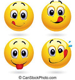 Smileys - Smiley balls in temptation of tasting sweets