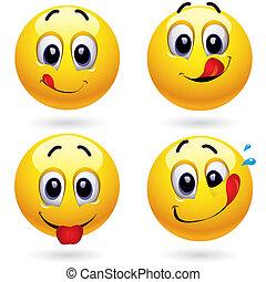 Smileys - Smiley balls in temptation of tasting sweets
