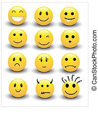 smileys, vectors