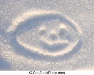 Smilie on Snow background