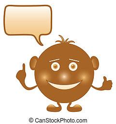 Smilie round brown