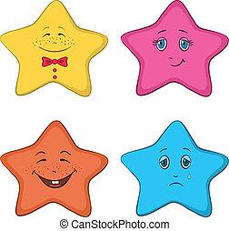 smilies, estrelas