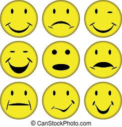 smilies, faces