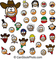 Smilies - A set of 32 funny smilies