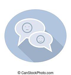 smilies, messaggi, chiacchierata