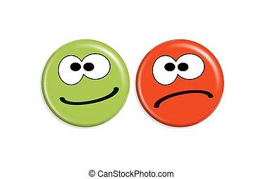 Smilies - positiv and negativ
