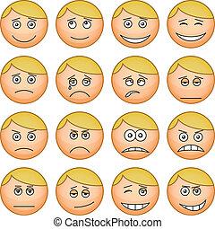 Smilies round, set - Set of the vector round smilies...