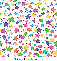 Smilies stars - Seamless background: colored stars smilies...