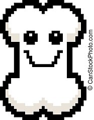 Smiling 8-Bit Cartoon Bone