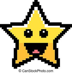 Smiling 8-Bit Cartoon Star