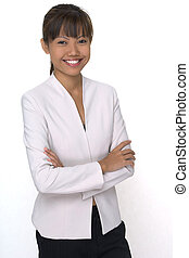 Smiling - A pretty young asian woman with a great smile