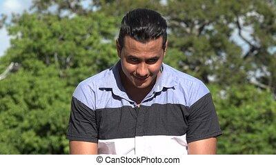 Smiling Adult Hispanic Man