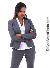 Smiling african american business woman