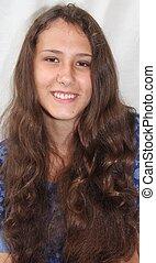 Smiling Alaska Native Teen Girl