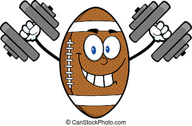 Smiling American Football Ball