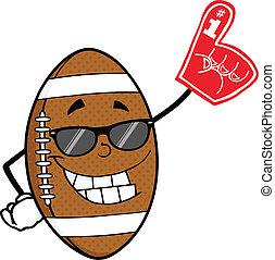 Football Ball With Sunglasses