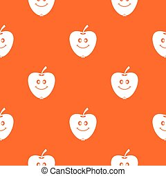 Smiling apple pattern seamless