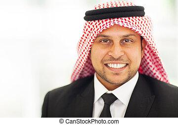 arabian corporate executive portrait - smiling arabian...