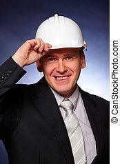 Smiling architect