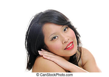 Smiling asian lady
