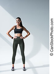 smiling athletic woman