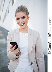 Smiling attractive businesswoman