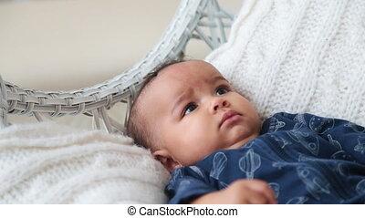 Smiling Baby Boy Lying