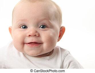 Smiling baby closeup