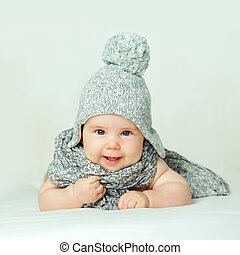 Smiling Baby, Parental Care Concept