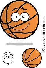 Smiling basketball ball cartoon character