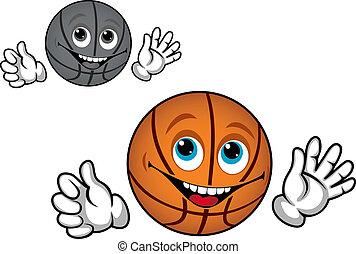 Smiling basketball ball
