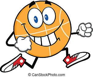 Smiling Basketball Running