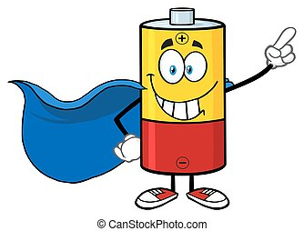 Smiling Battery Super Hero