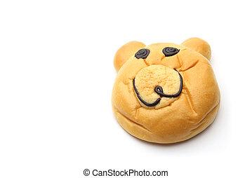 Smiling bear bread