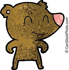 smiling bear cartoon