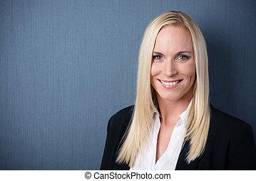Smiling beautiful business woman