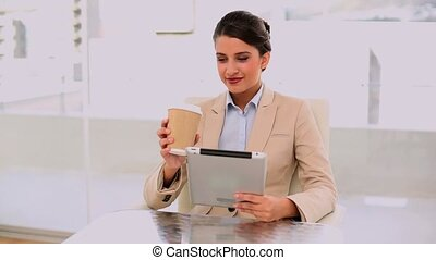 Smiling beautiful businesswoman