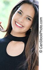 Smiling Beautiful Girl Teenager