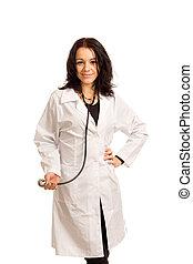 Smiling beautiful woman doctor
