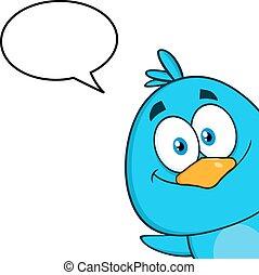 Smiling Blue Bird