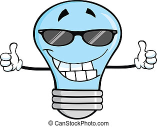 Blue Light Bulb With Sunglasses