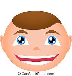 smiling boy face