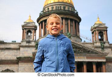 smiling Boy in Sankt-Petersburg