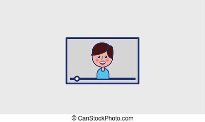 smiling boy in viral content video animation hd