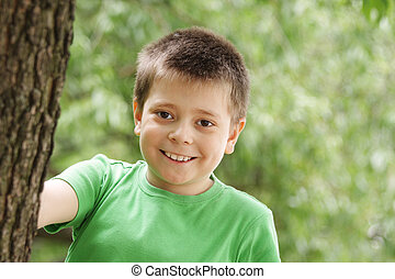 Smiling boy outdoor