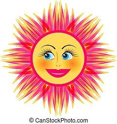 Smiling bright sun