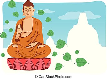 Smiling Buddha For Vesak Day Greeting