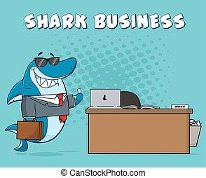 Smiling Business Boss Shark