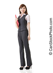 Smiling business woman of Asian