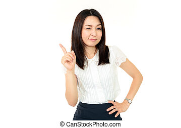 Smiling business woman - The female office worker who poses...